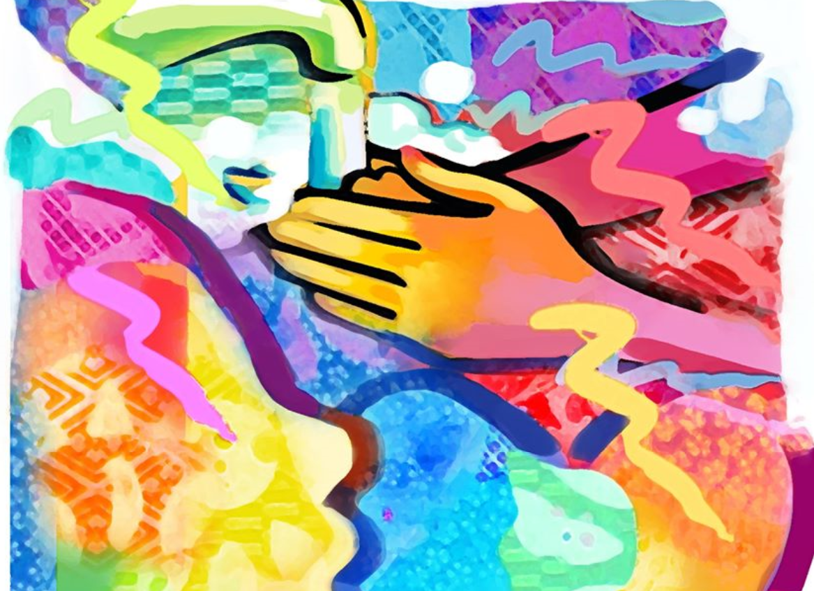Colorful image of handwashing from SC Arts Alliance and artist Amiri Geuka Farris. Says Help stop the spread of infection. Remember... wash your hands, cover your cough or sneeze, avoid shaking hands
